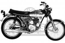 CB100K1 SUPER SPORT 1971 USA