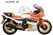 Honda CB1100RCII AUSTRALIA ENGLAND FRANCE GERMANY NETHERLANDS