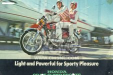 Honda CB125K5 EUROPEAN DIRECT SALES