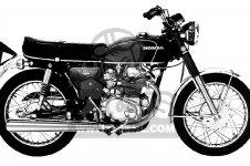 Honda CB350K3 SUPER SPORT 1971 USA