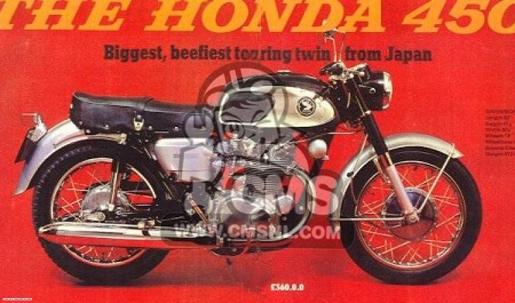 Honda CB450K0 BLACK BOMBER GENERAL EXPORT USA