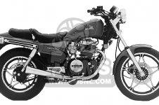 Honda CB450SC NIGHTHAWK 1986 G USA CALIFORNIA