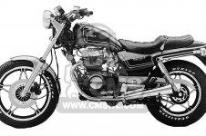 Honda CB450SC NIGHTHAWK 450 1983 D USA