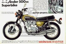 Honda CB500 FOUR K0 GENERAL EXPORT