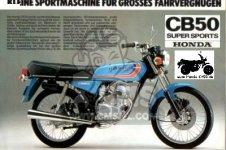 Honda CB50F BELGIUM parts