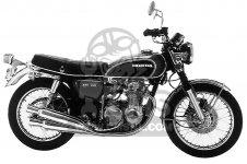 Honda CB550 FOUR 1975 CB550K0 USA Części