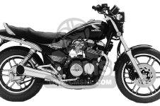 Honda CB650SC NIGHTHAWK 1984 E USA