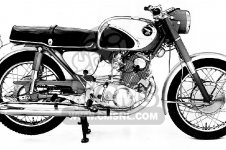Honda CB77 SUPER HAWK 305 1961 USA