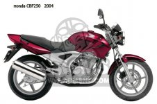 CBF250 2004 (4) EUROPEAN DIRECT SALES
