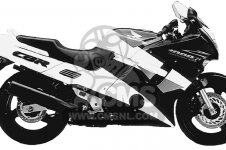 Honda CBR1000F 1000 HURRICANE 1994 R USA