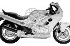 Honda CBR1000F HURRICANE1000 1988 J USA CALIFORNIA