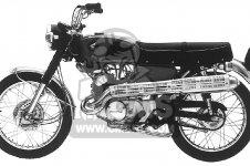 Honda CL175 SCRAMBLER 175 K0 1968 USA