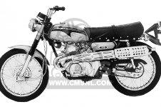 Honda CL175 SCRAMBLER 175 K5 1971 USA