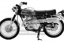 Honda CL175 SCRAMBLER 1972 K6 USA