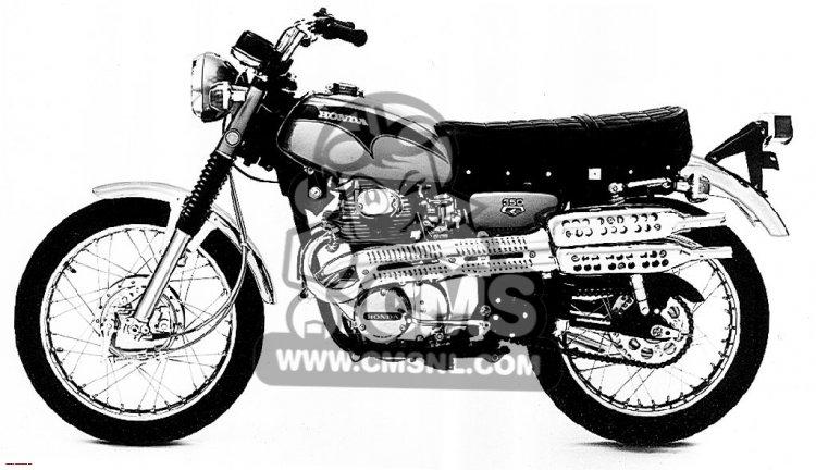 honda cl350 scrambler 1971 k3 usa information