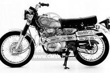 Honda CL350 SCRAMBLER 350 K4 1972 USA