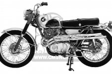 honda cl scrambler usa parts list partsmanual partsfiche honda cl72 scrambler 1962 usa 250