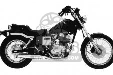 Honda 85 86 87 CMX250C 86 CMX250CD Parts List Catalog Motorcycle Manual