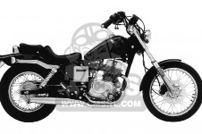 Honda CMX250C REBEL 250 1985 F USA