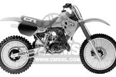 Honda CR125R 1985 F USA