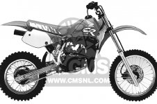 Honda CR80R 1991 (M) USA parts lists and schematics