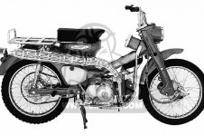 Honda CT200 TRAIL 90 1964 USA