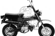 Honda CT70 TRAIL 70 1982 USA