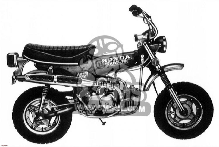Honda CT70 TRAIL 70 K2 1973 USA
