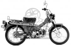 Honda CT90 TRAIL 1976 USA parts