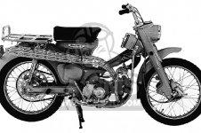 Honda CT90 TRAIL 90 1966 CT90K0 USA