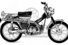 Honda CT90 TRAIL 90 K2 1970 USA