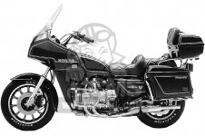 Honda GL1100I GOLDWING INTERSTATE 1983 D USA