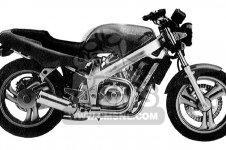 honda nt650 hawk gt 1989 k usa california parts list partsmanual rh cmsnl com 1990 Honda Hawk GT 650 Honda 650 Motorcycle