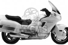 Honda PC800 PACIFIC COAST 1989 K USA CALIFORNIA