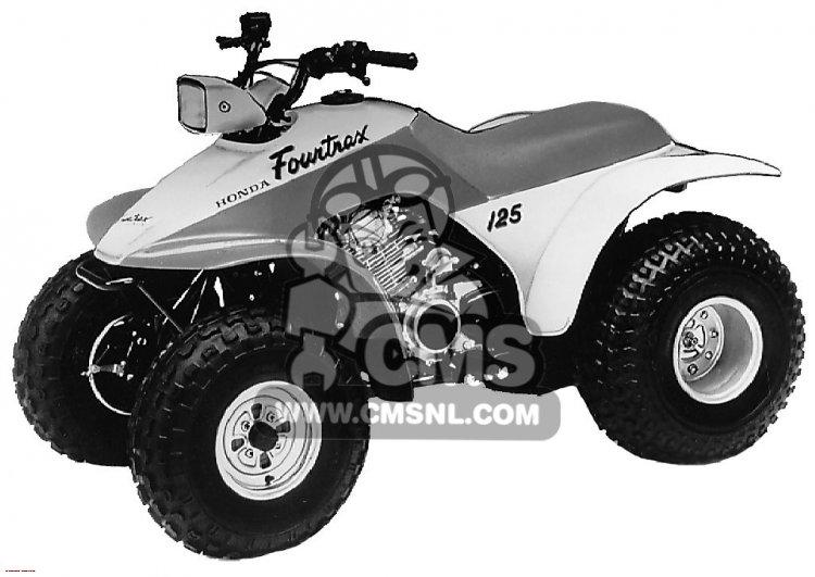 TRX125 FOURTRAX 125 1987 (H) USA