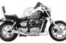 Honda VT1100C SHADOW 1100 1985 F USA