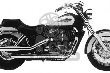 Honda VT1100C2 SHADOW ACE 1996 T USA