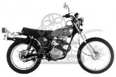 honda xl125 1976 usa parts list partsmanual partsfiche. Black Bedroom Furniture Sets. Home Design Ideas