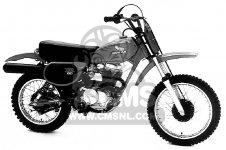Honda XR80 1980 (A) USA parts