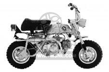 Honda Z50A MINI TRAIL K1 1969 1970 USA parts lists and