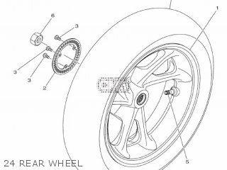 CAST WHEEL, REAR