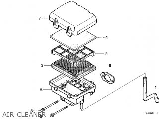 (17231-Z2A-020) COVER,AIR CLEANER