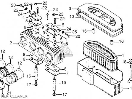 air cleaner_mediumhu0027f1615_9d16 honda cb750 k2 750 four 1972 parts in stock cb750 engine diagram at alyssarenee.co