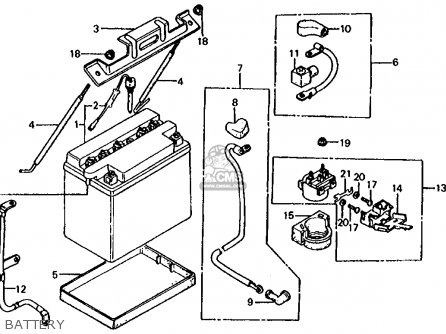Battery 12v14a For Cb900f 1981 B