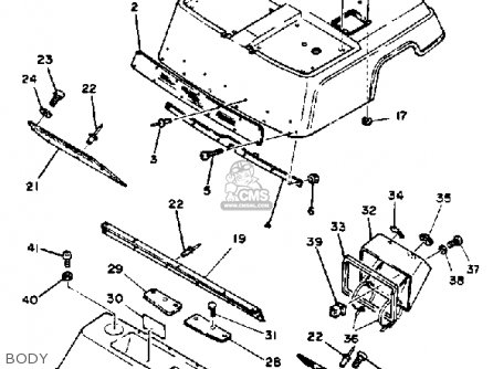 Yamaha G1 Golf Cart Parts Diagram