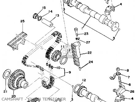 Cam Chain Tensioner Assy For Xs500 1976 Usa