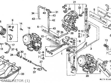 shaft comp ,start vfr750f interceptor 1988 (j) european direct sales / kph