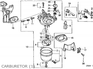 (16100ZE0065) CARBURETOR assembly (
