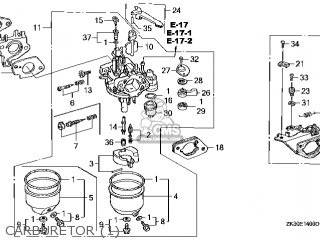 (16100-ZE3-W12) CARBURETOR assembly(S