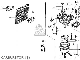 (16100-Z1F-W02) CARBURETOR assembly